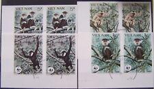 Vietnam 1987 - Set pairs WWF Monkeys used imperforated