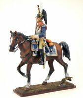 Painted Tin Toy Soldier Officer of the 1st cuirassier regiment 54mm 1/32
