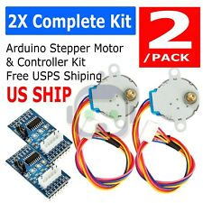 2Sets 28BYJ-48-5V DC 4-phase Stepper Motor+ ULN2003 Driver Board for Arduino