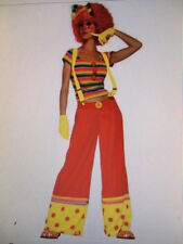 Womens Sexy CLOWN Ronald McDonald Funny Fancy Dress Costume Outfit