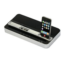 Dual Dock Station Charger Speaker Fr iPhone 5 5S 5C 4S IPAD AIR MINI 5 4 3 Touch
