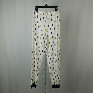 Family PJs Kids Tree Print Christmas Pajama Pants - White - 14-16, XL #7650