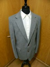 Mens Blazer Sport coat Jacket Bradley 42L Lt Gray Camelhair blend S-#102