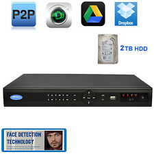 5.0 MP 16Ch 16 POE ports NVR Face Detection For IP Security Camera Onvif 2TB HDD