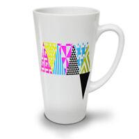 Triangle Geometric NEW White Tea Coffee Latte Mug 12 17 oz | Wellcoda