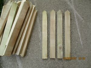 25 x Wooden Tanalised Garden Stakes, 250x25x15mm