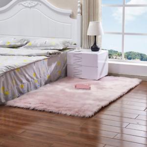 Deluxe Soft Modern Faux Sheepskin Shaggy Area Rugs Children Play Carpet