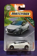 2018 Matchbox  MBX ROAD TRIP '18 NISSAN LEAF in White. Near mint long card.