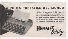 Pubblicità 1949 HERMES BABY MACCHINA DA SCRIVERE advertising werbung publicitè