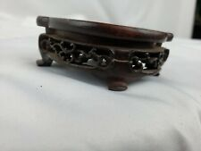 Intricate old chinese carved wood stand, minor damage