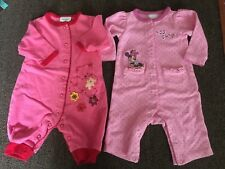 New listing Girls Size 0-3 Months Rompers, Pink, Polka Dot Minnie Mouse, Pink w/Bears