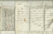1837  RED PAID AT HUDDERSFIELD OVAL ON LAN DYSON LETTER> ROBERT MATTHEW ROCHDALE