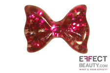 Glitter Resin Bows 3d Nail Art Manicure 10 Colours UK SELLER Postage 20 Hot Pink