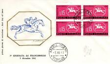 Repubblica Italiana 1961 FDC Filagrano 3° Giornata del Francobollo