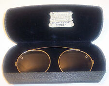 Vintage Gf Gold Clip On Spectacles Eyeglasses with case Usa