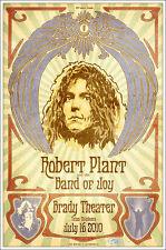 Robert Plant 2010 Signed Original Tulsa Brady Theater Concert Poster Zeppelin