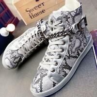Punk Mens Ankle Strap High Top Shoes Chain Sport Sneakers Athletic Shoes Casual