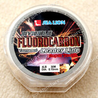 NEW Sea Lion 100% Made in Japan Fluorocarbon Leader Fishing Line 4LB 30M