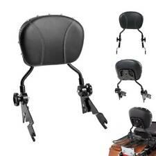 Black Adjustable Detachable Backrest Sissy Bar For Harley Road Glide 2009-2019