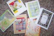 "Handcrafted Monogram Initial ""T"" 6 Cards & Envelopes Blank Inside"