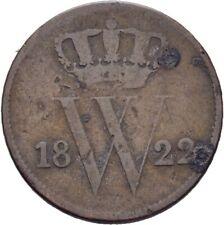 Niederlande 1 Cent 1822 Willem  3,5 g Kupfer  #SAW158