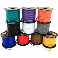 16 Gauge Copper Clad Aluminum CCA Automotive Primary Remote Wire 4 Color 100 Ft