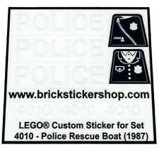 Replica Transparant Pre-Cut Sticker for Boat set 4010 - Police Rescue Boat