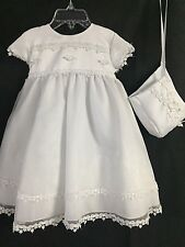 NWT Little Gracie Blue Shoes Infant Girl Christening 2 Piece Gown Size Small