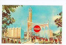 Coca-Cola Pavilion—Vintage NYC World's Fair Chrome Advertising PC Queens 1964