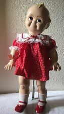 "Porcelain 21""  Large Baby Doll W/ Stand New"