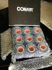 Conair 75 Piece Magnetic Hair Rollers with Silver Clips & Comb Various Sizes