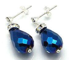 Bigiotteria blu a goccia di cristallo