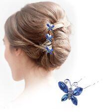 Wedding Hair Pins Ladies Bridal Accessories Crystal Clips Pieces Diamante Slides