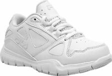 Fila Side-By-Side Kids Athletic Leather Shoes Sneakers All White 3SG30035-100