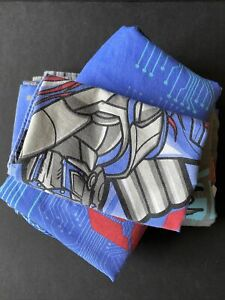 Transformers Twin Bed Sheet Set Flat Fitted & Pillowcase Silver Knight Optimus