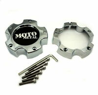 "Moto Metal Chrome Wheel Center Hub Cap 5"" Bolt-On 5x4.5 5x114.3 5x5 5x127 MO961"