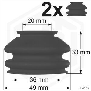 Ball Joint Dust Cover Large 2 x 20/36mm Rubber Universal boots track rod end Car