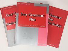 Easy Grammar Plus Set: Teacher Edition, Student Workbook, and Test Booklet