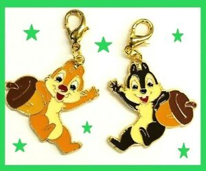Chip &Dale Nuts Disney Cell charm keychain zipper pull purse MICKEY MOUSE