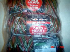 3 Skeins of Red Heart Super Saver Worsted Weight Yarn in Fall  #0981
