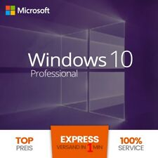 Microsoft Windows 10 Pro Vollversion ✔ AKTION 32 & 64 Bit Product-Key Lizenz ✔
