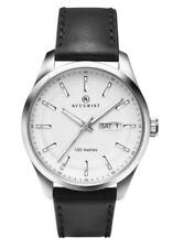 Accurist 7135 Mens Classic Day Date White Dial Leather Strap Watch RRP £74.99
