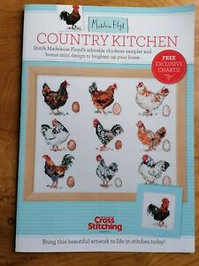 Country Kitchen Chickens Cross stitch chart booklet