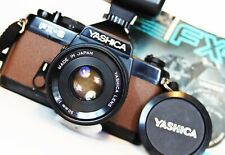 YASHICA FX-3 35mm SLR Camera ML 50mm f2 Lens FLASH WORKING NEW SEALS & COVERING