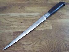 ESKILSTUNA vtg EBONY FORGED CARBON STEEL Swedish Chef Pewter knife RAZOR SHARP