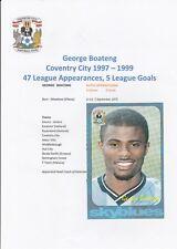 George BOATENG COVENTRY CITY 1997-1999 Originale Firmato a Mano Ufficiale Club Card