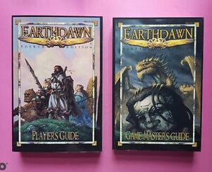 EARTHDAWN FOURTH EDITION PLAYERS & GAME MASTERS GUIDE SET - RPG ROLEPLAYING FASA