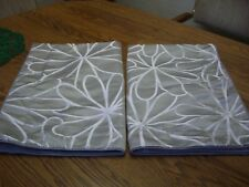 "Pair Gray Iridescent Print Padded King Pillow Shams/100% Polyester/40"" x 26"""