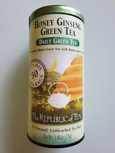 The Republic of Tea Daily Premium China Green Tea with Honey & Ginseng 50 bags