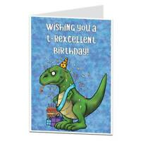 Funny Cheesy Birthday Card Dinosaur Theme Perfect For Kids Adults Men Women